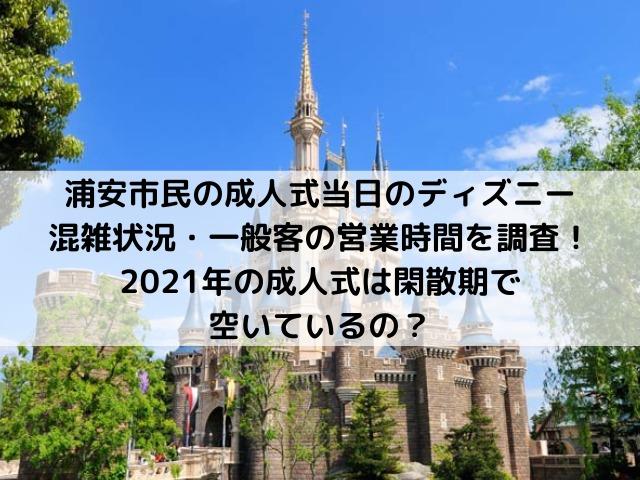 浦安市 成人式当日 一般客 混んでる 空いてる ディズニー